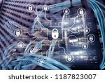 cyber security  data protection ... | Shutterstock . vector #1187823007