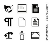 9 legal icons with file and... | Shutterstock .eps vector #1187823094