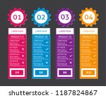 modern vector product pricing... | Shutterstock .eps vector #1187824867