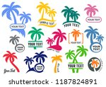 colorful vector palm tree... | Shutterstock .eps vector #1187824891