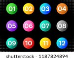 colorful circle buttons with... | Shutterstock .eps vector #1187824894