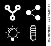4 invention icons with light... | Shutterstock .eps vector #1187825464