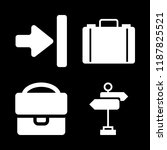 walking icons set with... | Shutterstock .eps vector #1187825521