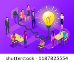people work in a team and... | Shutterstock .eps vector #1187825554