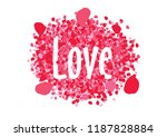 rose flowers petals  romantic... | Shutterstock .eps vector #1187828884