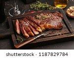 medium rare sliced grilled... | Shutterstock . vector #1187829784
