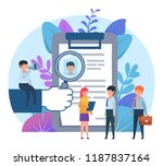 small people standing near big... | Shutterstock .eps vector #1187837164