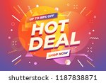 hot deal banner  special offer  ... | Shutterstock .eps vector #1187838871