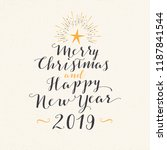 handmade style greeting card  ... | Shutterstock .eps vector #1187841544
