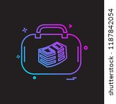 briefcase icon design vector | Shutterstock .eps vector #1187842054