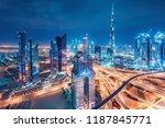 spectacular urban skyline with... | Shutterstock . vector #1187845771