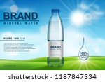 mineral water ad  plastic... | Shutterstock .eps vector #1187847334
