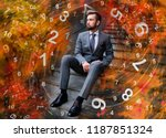 man and business numerology | Shutterstock . vector #1187851324