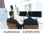 business partners discuss the...   Shutterstock . vector #1187851504