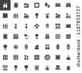 decorating vector icons set ... | Shutterstock .eps vector #1187853727