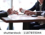 close up. business team at the... | Shutterstock . vector #1187855044