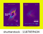 music wave poster. party flyer... | Shutterstock .eps vector #1187859634
