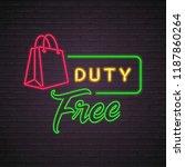 duty free shopping bag neon... | Shutterstock .eps vector #1187860264