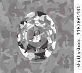 inaccessible icon on grey camo...   Shutterstock .eps vector #1187861431
