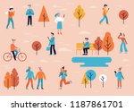 vector illustration in flat... | Shutterstock .eps vector #1187861701