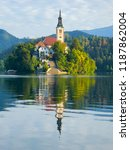 lake bled slovenia. beautiful... | Shutterstock . vector #1187862004
