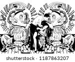 hand drawn illustration with... | Shutterstock .eps vector #1187863207