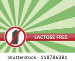 Lactose free banner for food allergy concept - stock vector