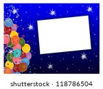 stars and balloons   text box | Shutterstock . vector #118786504
