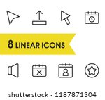web icons set with pointer ...