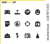 mixed icons set with locate ...