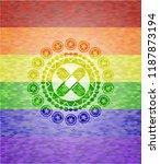crossed bandage plaster icon... | Shutterstock .eps vector #1187873194
