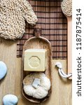 loofah  dry brush and... | Shutterstock . vector #1187875414