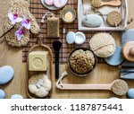 still life with many healthy... | Shutterstock . vector #1187875441