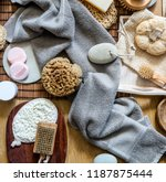 still life with many healthy... | Shutterstock . vector #1187875444