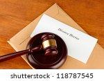 divorce decree and wooden gavel ... | Shutterstock . vector #118787545