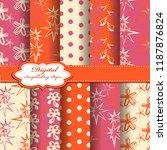 set of vector abstract flower... | Shutterstock .eps vector #1187876824