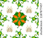 cute floral pattern in the... | Shutterstock .eps vector #1187877457