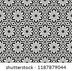 vector monochrome seamless... | Shutterstock .eps vector #1187879044