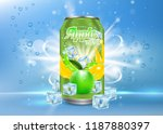 apple tonic aluminum can... | Shutterstock . vector #1187880397