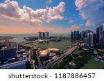 singapore cityscape at dusk.... | Shutterstock . vector #1187886457