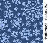 snowflakes seamless pattern.... | Shutterstock .eps vector #1187889757