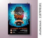 halloween party flyer vector... | Shutterstock .eps vector #1187898181