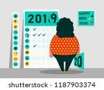 tasks and plan for 2019   2020. ... | Shutterstock .eps vector #1187903374