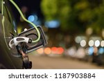 electric car photo in uk with... | Shutterstock . vector #1187903884