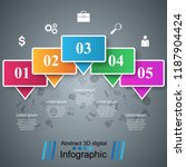 3d infographic design template...   Shutterstock .eps vector #1187904424