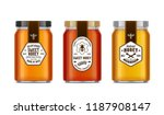Honey Glass Jar Mockups With...