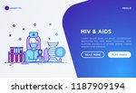 hiv and aids concept  doctor...   Shutterstock .eps vector #1187909194