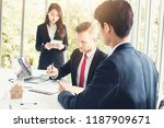 businessman signing on contract ... | Shutterstock . vector #1187909671