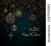 christmas background gold balls ... | Shutterstock .eps vector #1187910301