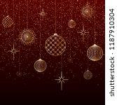 Christmas Background Gold Balls ...